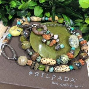 Silpada Multi Stone & Sterling Necklace